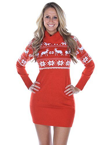 Fair Isle Christmas Sweater Dress  Medium * Visit the image link more details.(This is an Amazon affiliate link and I receive a commission for the sales)