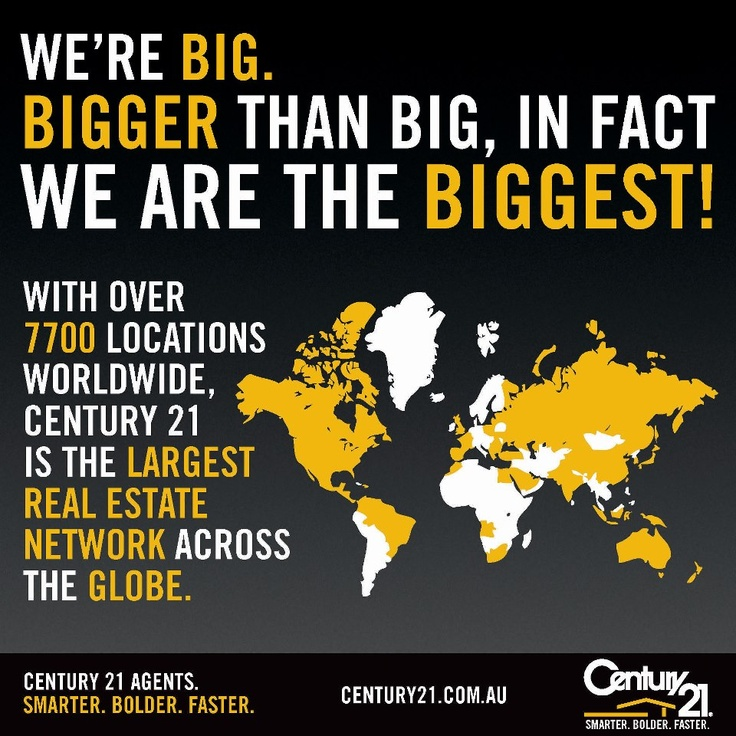 C21 is Biggest Realstate Network over the globe.