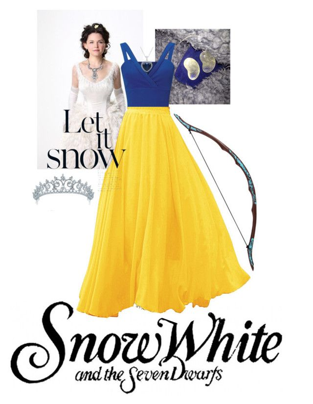 """once upon a time snow white was set in the 21 centry"" by fandom-fasion on Polyvore featuring Once Upon a Time, Miss Selfridge, Bling Jewelry, Amanda Rose Collection and Bow & Arrow"