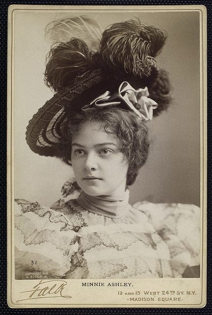 Minnie Ashley (1881-1946) - American stage actress in the late 1800's- early 1900's.  Married William Astor Chanler in 1903 and divorced him in 1909 after having 2 sons.