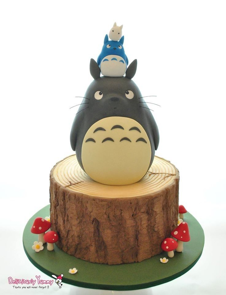 Best 300 Totoro Cakes Images On Pinterest Cake Ideas My Neighbor