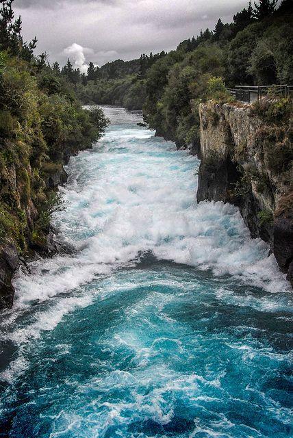 Huka Falls, North Island, New Zealand #newzealand #outdoors