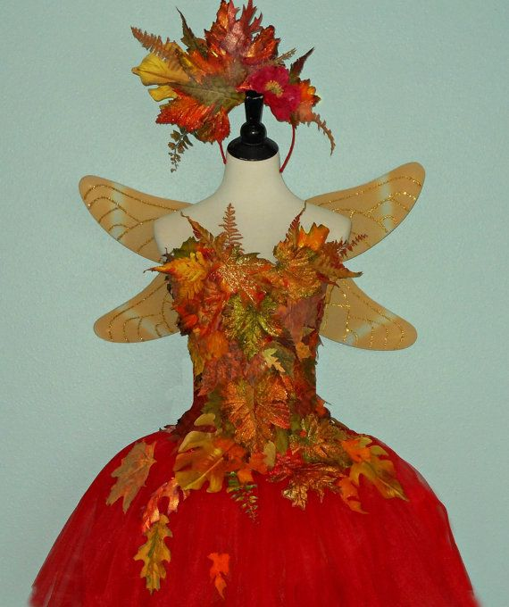 Fairy Costume Woodland Fairy Autumn Leaves By