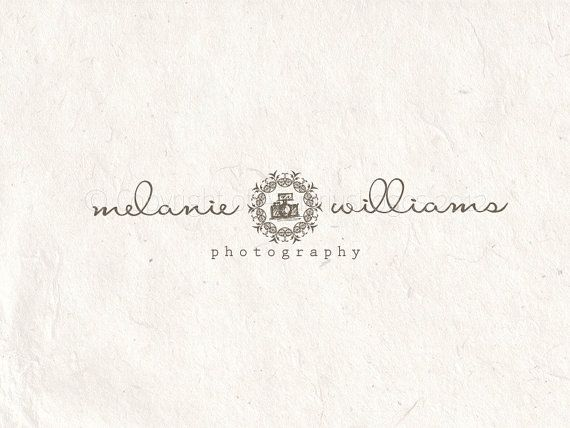 Premade photography logo design using a camera. Vector and watermark files included.