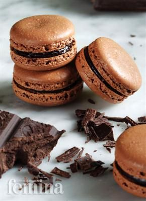 Macarons Chocolat Femina I always wanted to make these!!! A French delicacy