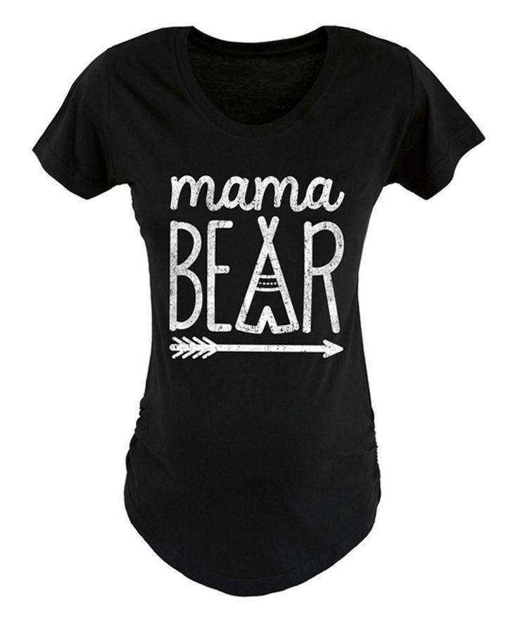 Loving this Black 'Mama Bear' Maternity Tee on #zulily! #zulilyfinds