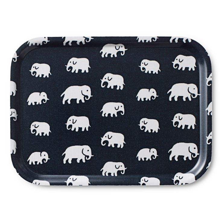 another Svensk Tenn fave - Estrid Ericson's elephant motif on a tray