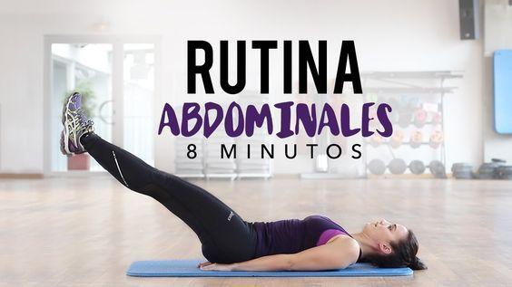 Rutina de abdominales 8 minutos