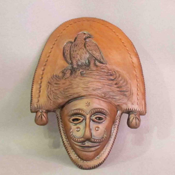 """Mud mask """"Peliqueiro"""" (Galician carnival character). Handmade by galician potters. Artcraft of The Way of St.James. Tax free $19.90"""