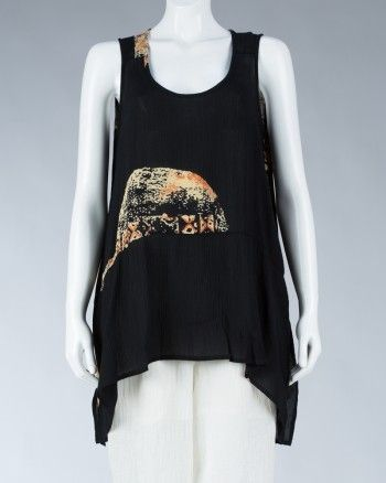 Animale sleeveless Top-Black