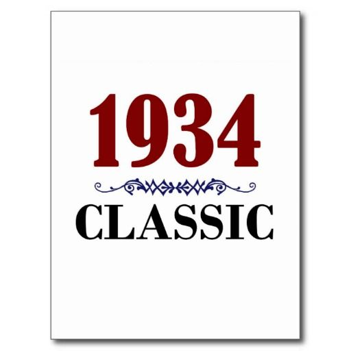 =>quality product          Classic 1934 80th Birthday Gifts Postcard           Classic 1934 80th Birthday Gifts Postcard online after you search a lot for where to buyShopping          Classic 1934 80th Birthday Gifts Postcard Online Secure Check out Quick and Easy...Cleck Hot Deals >>> http://www.zazzle.com/classic_1934_80th_birthday_gifts_postcard-239255058084787255?rf=238627982471231924&zbar=1&tc=terrest