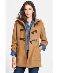 Gloverall Hooded Duffle Coat With Shearling Trim. Buy for $503 at Asos.