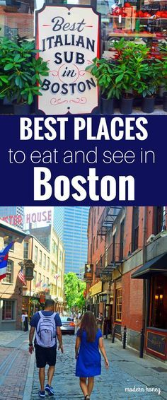 Best Places to Eat and See in Boston. A list of the best things to do and best places to eat while traveling to Boston. Weather in Boston, transportation in Boston, and entertainment and food in Boston. www.modernhoney.com