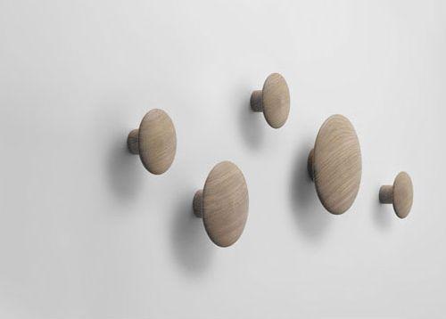 Dots Wood Coat Hooks by Tveit & Tornoe via apartmenttherapy.com