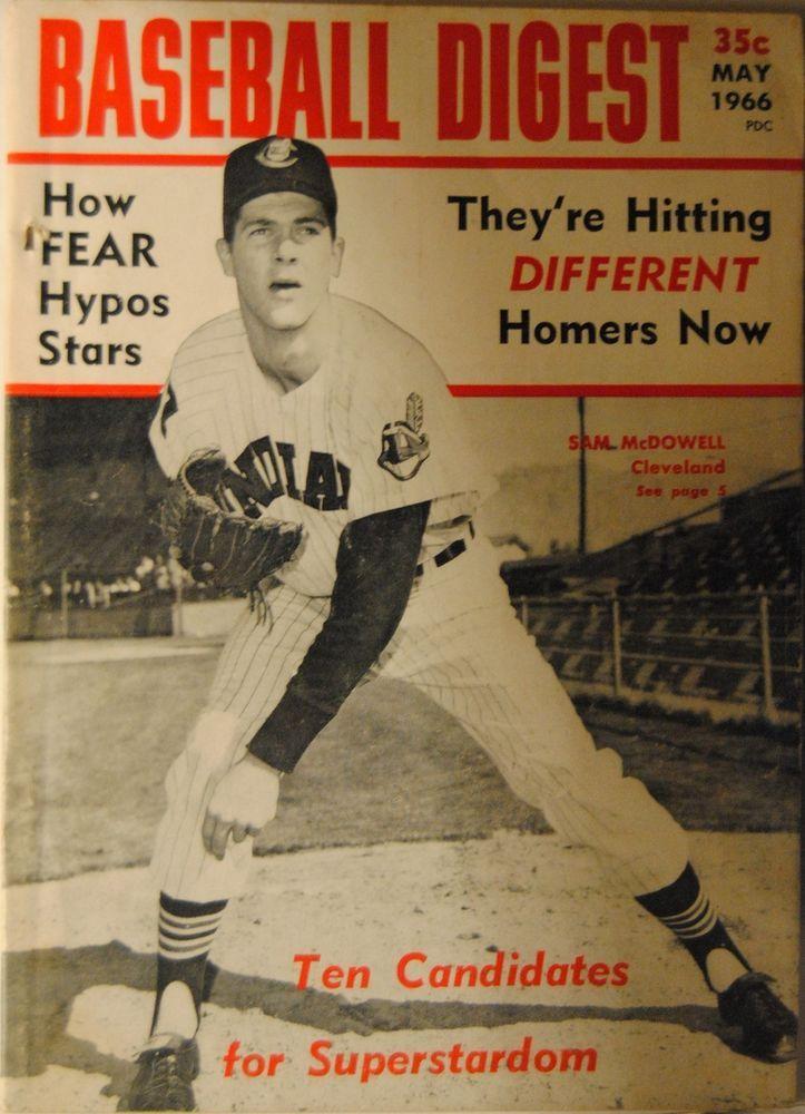 1966 Baseball DigestCleveland Indians Sam McDowell