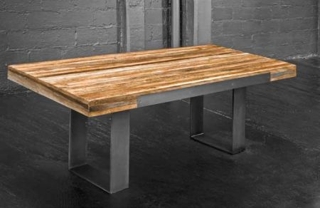 Metal and wood - industrial table