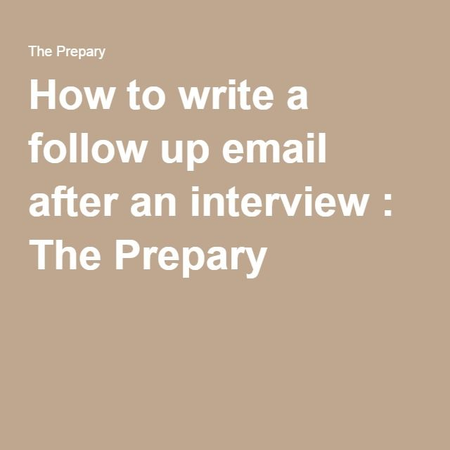 25+ unique Interview follow up email ideas on Pinterest Landing - follow-up email after resume