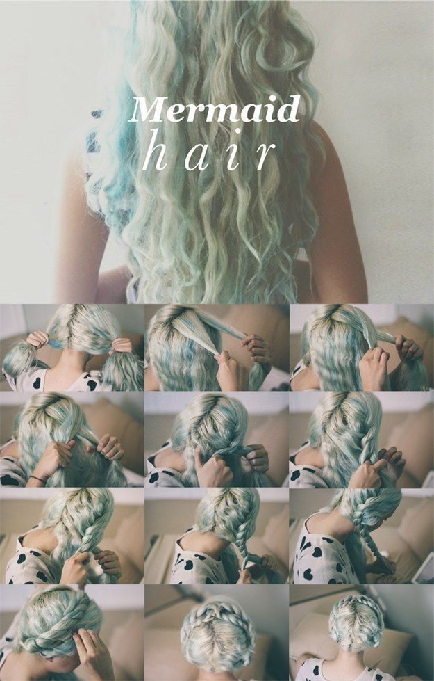 This overnight mermaid hair idea looks just as cute in its setting phase, so wear the Heidi-esque updo, and let it out 24 hours later. | Genius Hairstyles That Will Last Two Whole Days