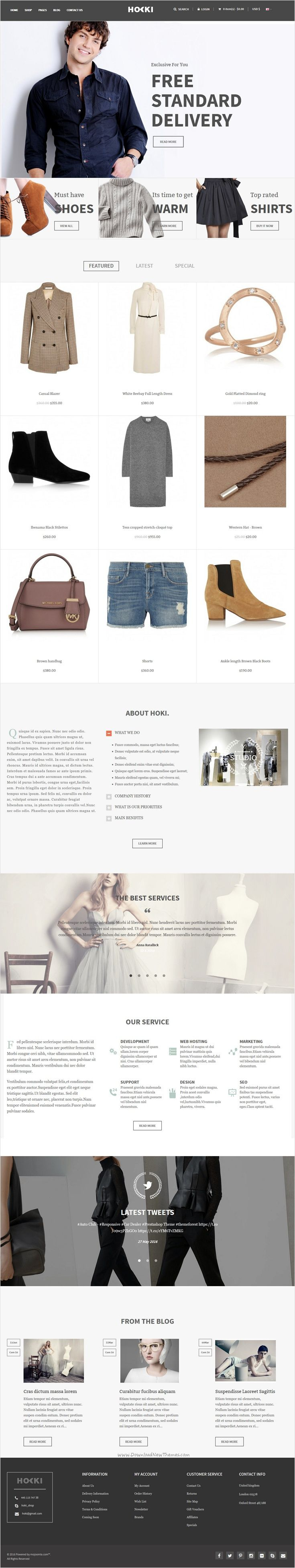 Hoki is beautifully design responsive #Opencart theme for stunning #fashion #shop eCommerce website with 5 unique homepage layouts download now➩ https://themeforest.net/item/hoki-responsive-opencart-theme/18445173?ref=Datasata