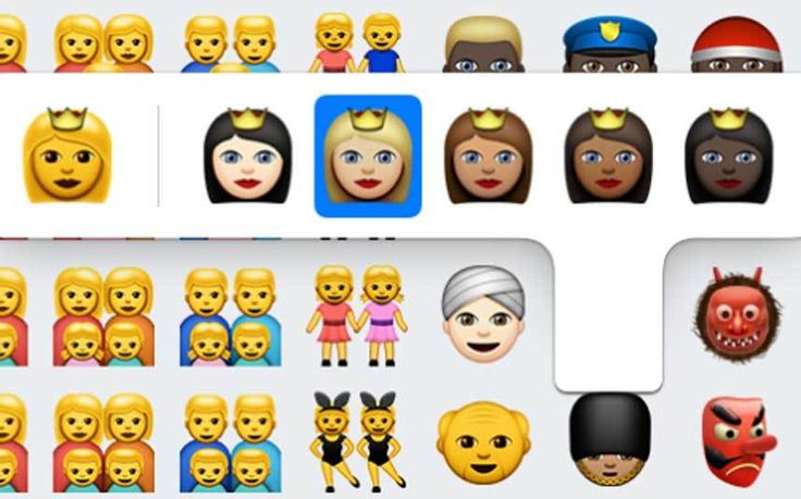 A redesigned emoji keyboard has been released, featuring more skin tones and   same-sex parents