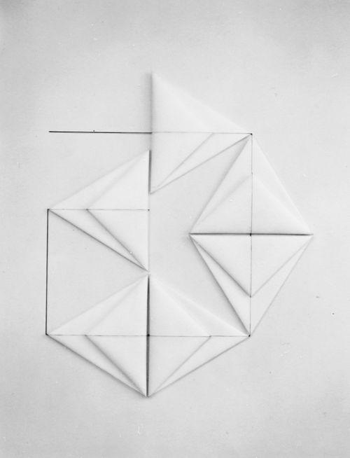 Dorothea Rockburne - Sheba, 1980. origami, diy, paper art