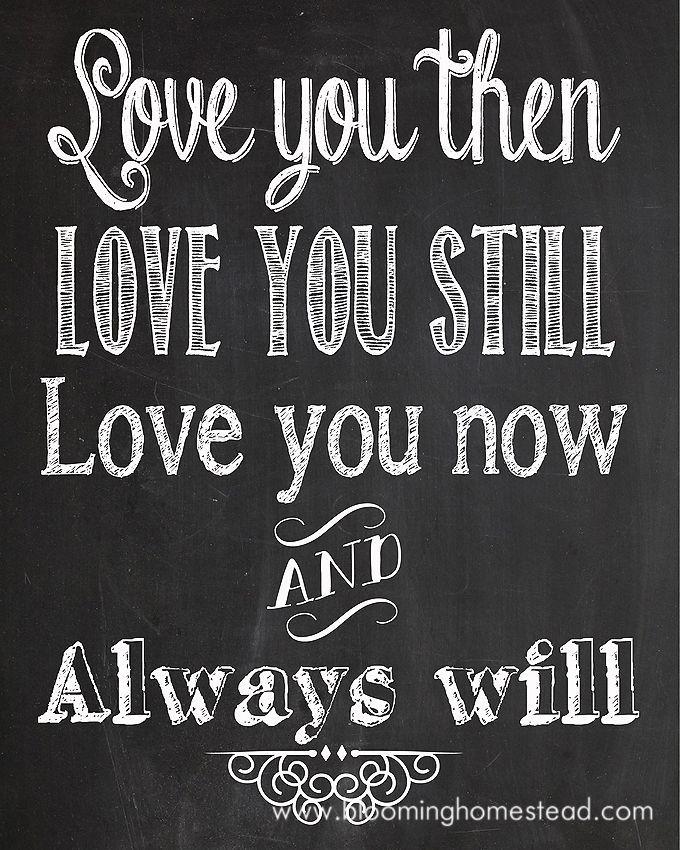 Printable Love Quotes And Sayings: Chalkboard Printables