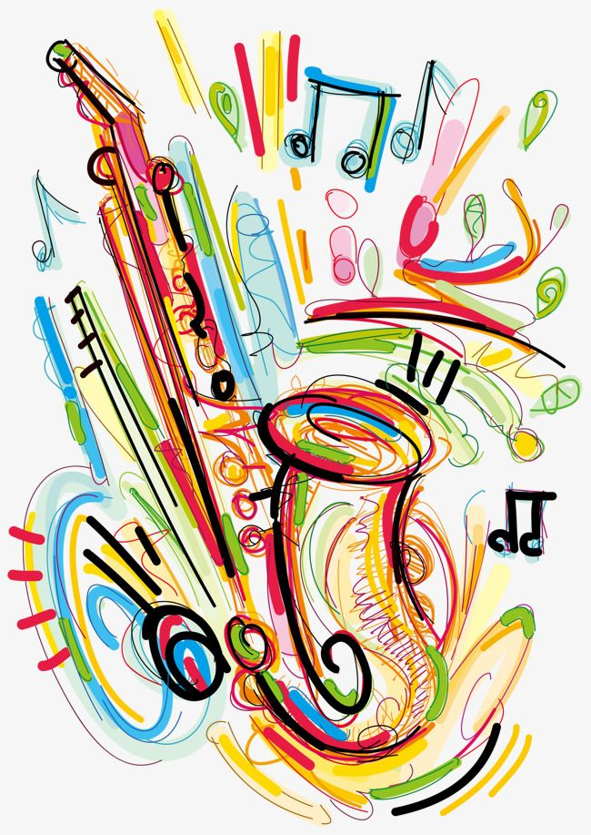 Painted Saxophone Vector Music Note Musical Instruments Png Transparent Clipart Image And Psd File For Free Download Music Notes Art Music Collage Musical Instruments Drawing