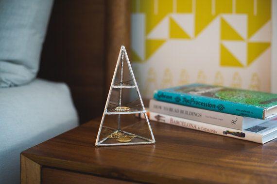 NEW Lyra Pyramid Display Box small  glass pyramid by ABJglassworks