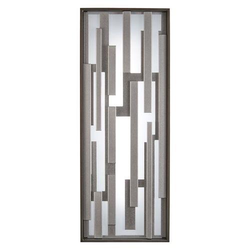 George Kovacs Bars Bronze W/silver LED Outdoor Wall Light | P1272-650-L | Destination Lighting