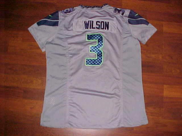 Nike NFL Super Bowl 13 Seattle Seahawks Russell Wilson 3 Gray Girls Jersey 12 #Nike #SeattleSeahawks