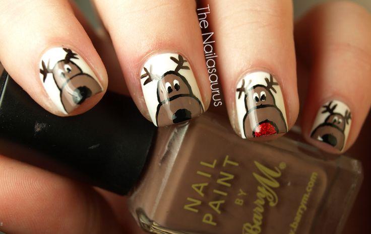 reindeer nails: Holiday, Reindeer Nails, Nailart, Nail Designs, Christmas Nails, Art Design, Beauty, Nail Ideas, Nail Art