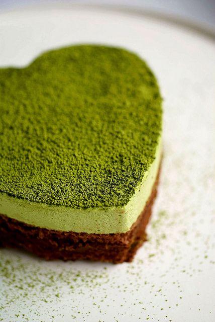 Kuchen mit Matcha: Grün und lecker <3 #pflanzenfreude