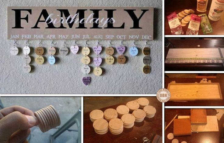 Easy Diy Calendar Ideas : Diy hanging birthday calendar craft ideas pinterest