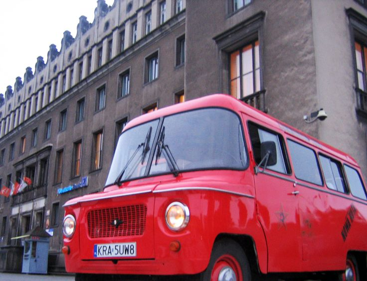From the airport you will be driven to your accommodation in a classic communism style Nysa car http://partykrakow.co.uk/stag-weekends-krakow/airport-transfers/communism-style-airport-pick/