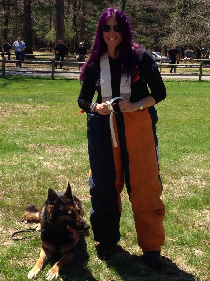 Watch Mistress Carrie from Boston's Rock Station WAAF train with the Boston POlice Department K-9 Unit!