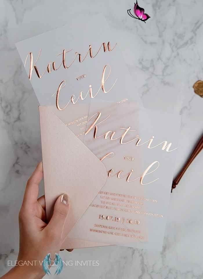 March New Arrivals 10 Affordable Wedding Invitations From Elegant Wedding Invites Rose Gold Foil Vellum In 2020 Bruiloftsuitnodigingen Huwelijksuitnodiging Trouwkaart