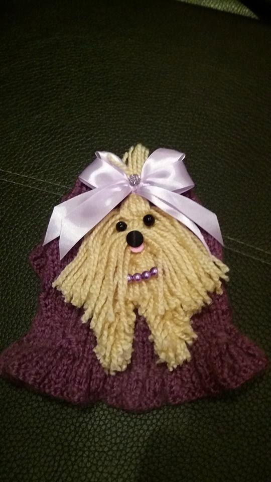 Color púrpura oscuro de suéter perro con por NinasCoutureCloset