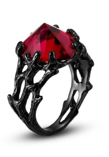 http://rubies.work/0752-blue-sapphire-earrings/ Vancaro Black Ring Ruby Heart
