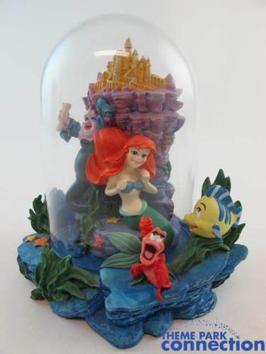 Disney Little Mermaid Figurine Glass Dome Miniature Ariel Ursula Display | eBay