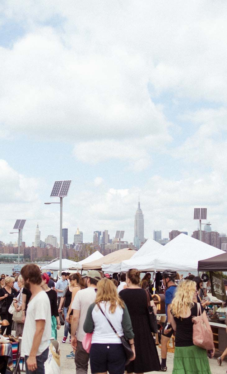 the brooklyn flea is a roving market with an assortment of. Black Bedroom Furniture Sets. Home Design Ideas