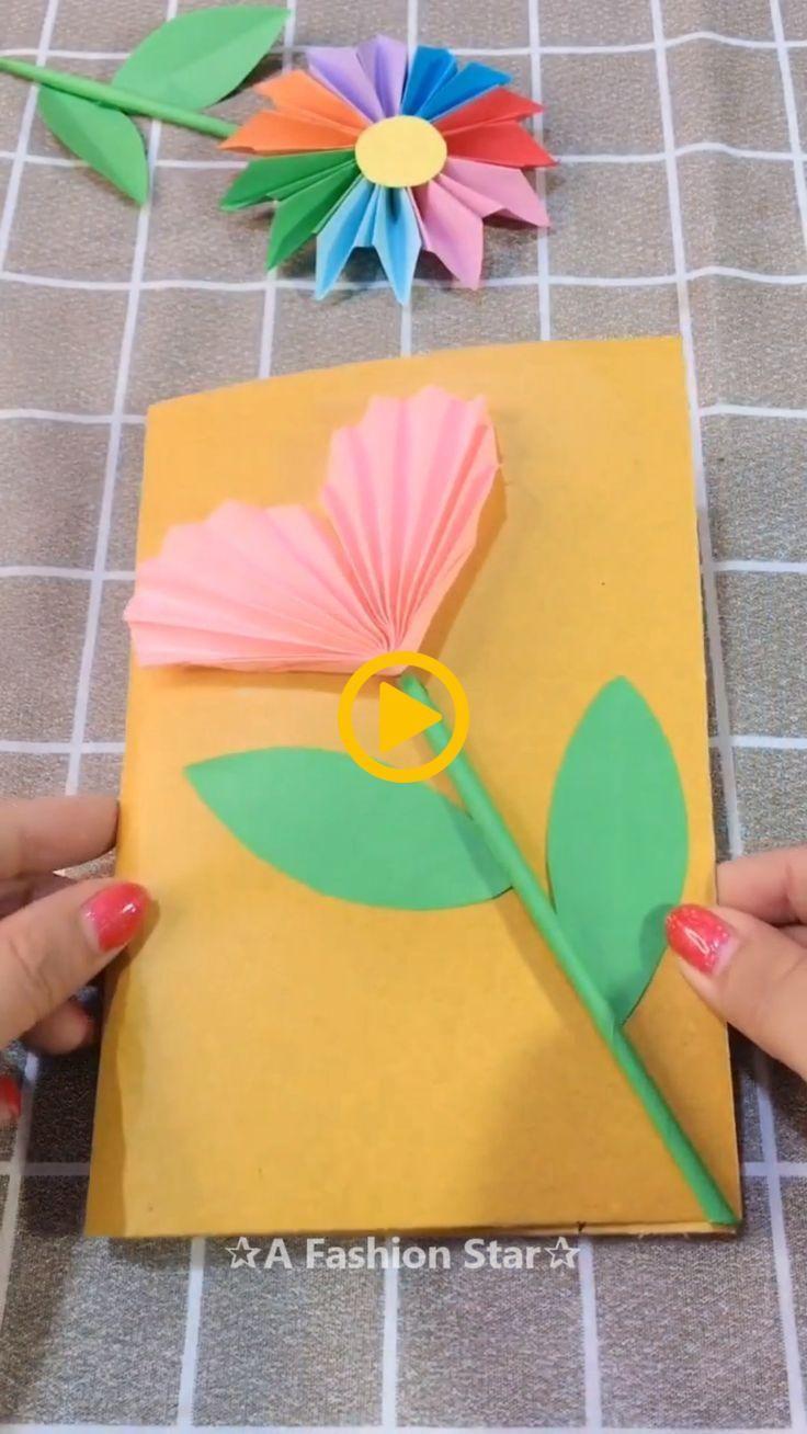 3d Flower Greeting Card Making Idea Diy A Fashion Star Woodworking Ideas Paper Flowers Diy Flower Diy Crafts Origami For Beginners