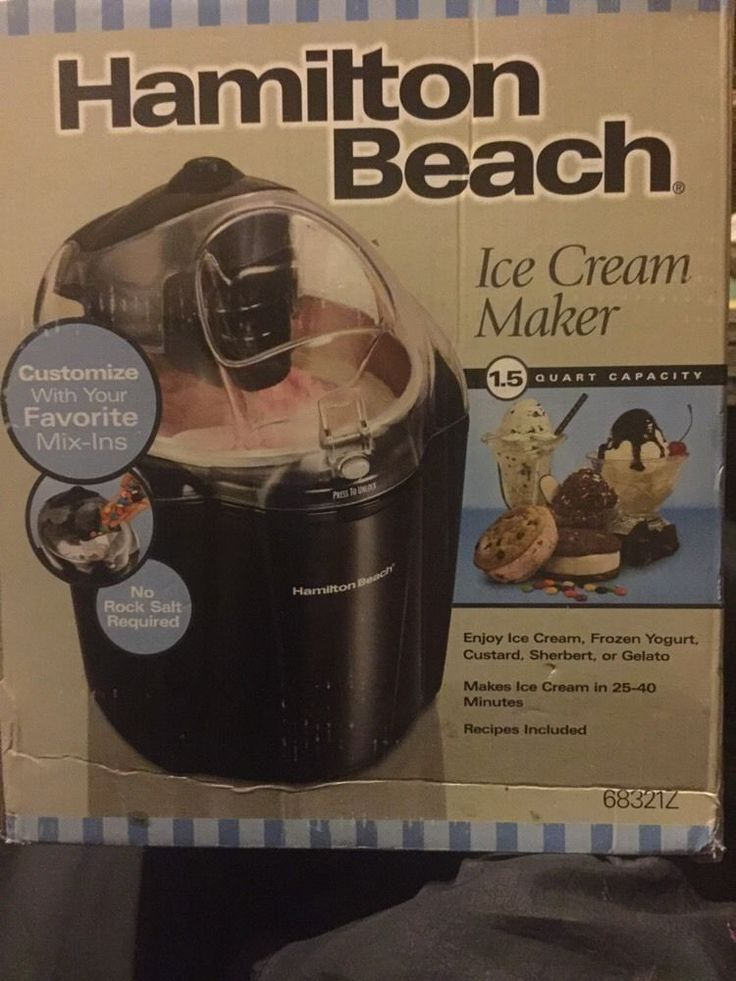 New Never Been Out Of Box Hamilton Beach Ice Cream Maker1.5 Quart Capacity #HamiltonBeach