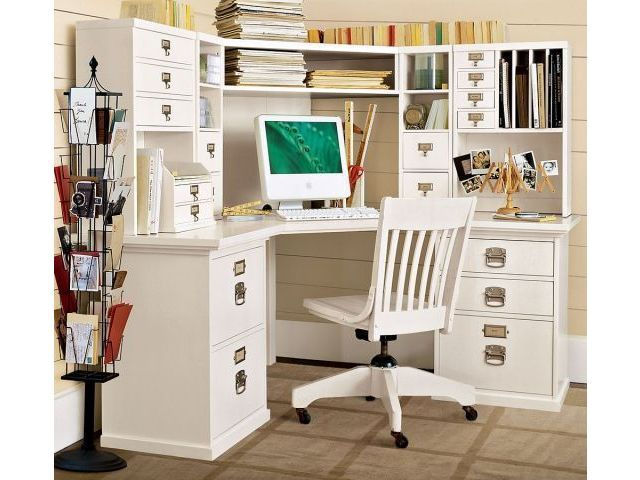 Pottery barn bedford corner desk hutch office design and office organiztion pinterest i - Pottery barn office desk ...