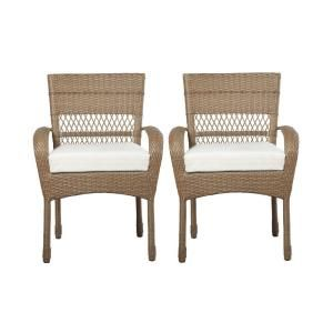 Martha Stewart Living Charlottetown Natural Patio Dining Chair With Bare Cushion 2 Pack 55