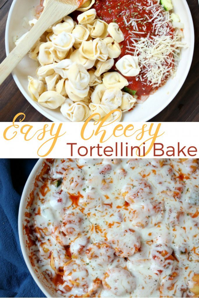 This is by far the easiest, cheesiest tortellini bake I've ever made. It's full of flavor and so easy to adapt. Make it gluten-free by using gluten-free noodles; Weight Watchers friendly; Vegetarian (add meat for meat lovers), AND kid-friendly. Winning!