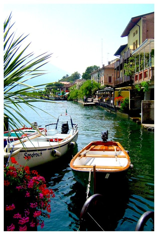 Pretty Limone, Lombardy region Italy. A picturesque town on Lake Garda with great restaurants and shopping.