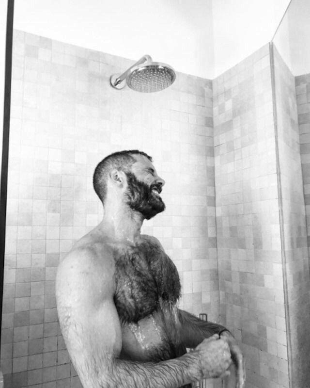 Hairy Men Fucking Bare In The Shower