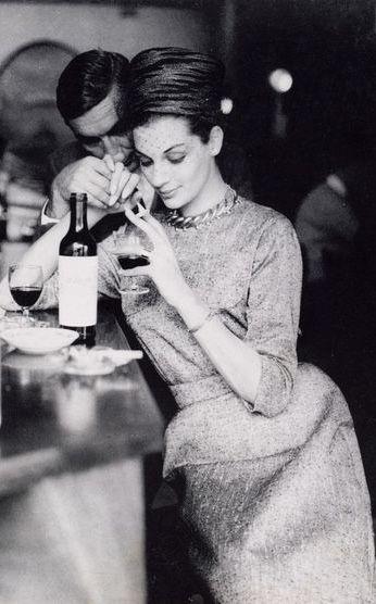Maggie Tabberer at the 'Bistro' Sydney photo Helmut Newton Australia 1961