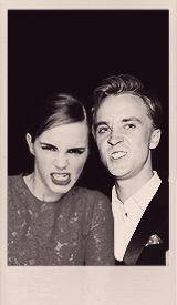Emma Watson and Tom Felton. I love them so much