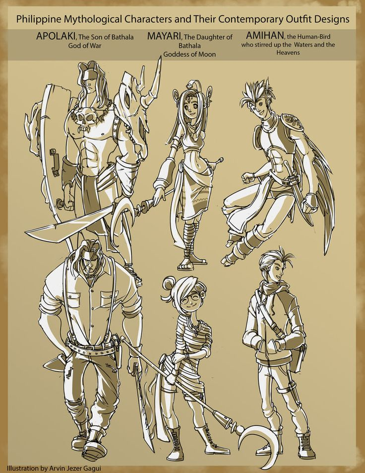 Some Philippine Mythological Characters by ArvinJezer